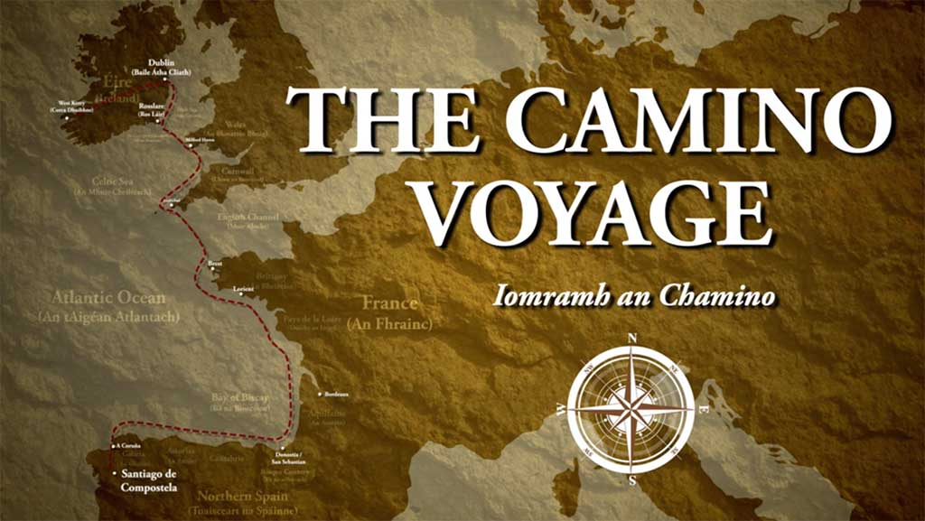Camino by Sea map for journey documentary